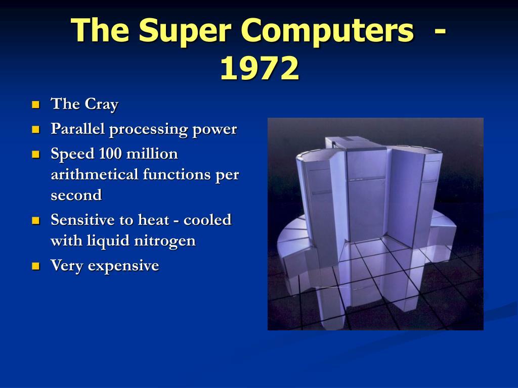The Super Computers- 1972