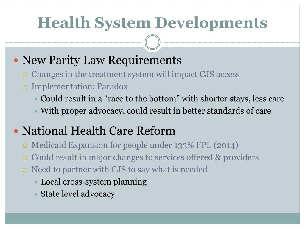 Health System Developments