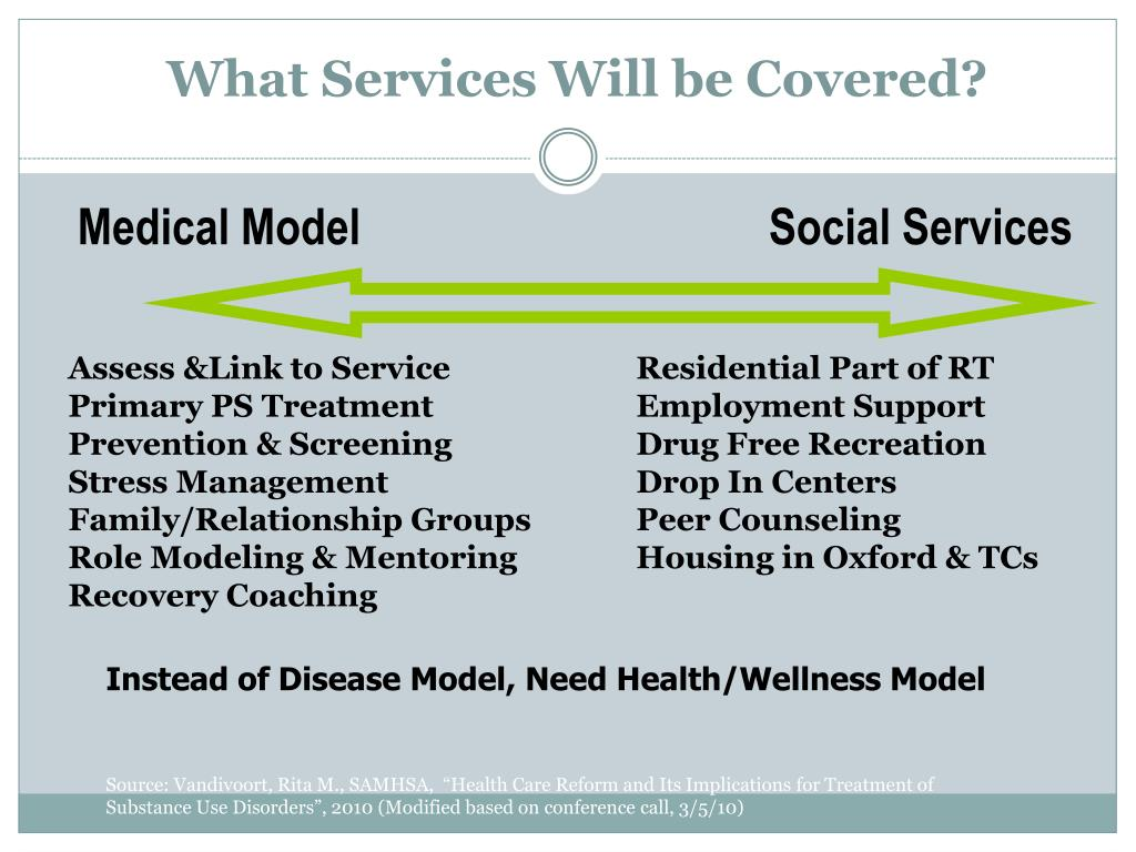 What Services Will be Covered?