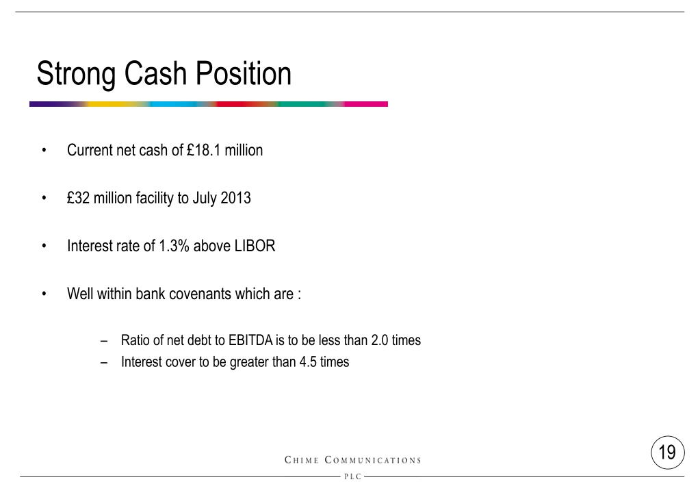 Strong Cash Position