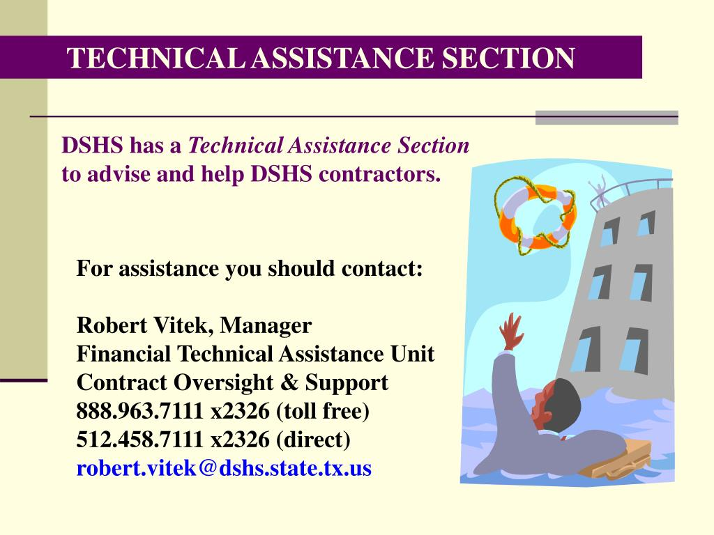 TECHNICAL ASSISTANCE SECTION