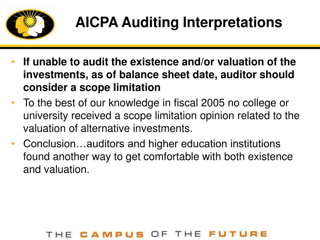 AICPA Auditing Interpretations