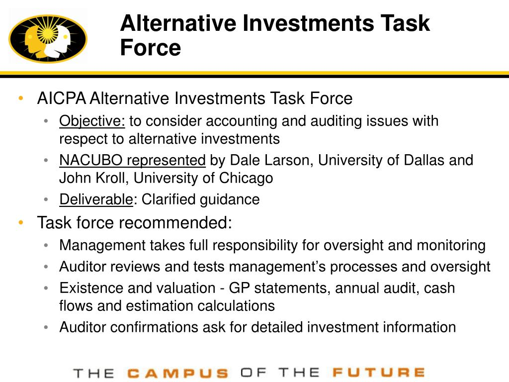 Alternative Investments Task Force