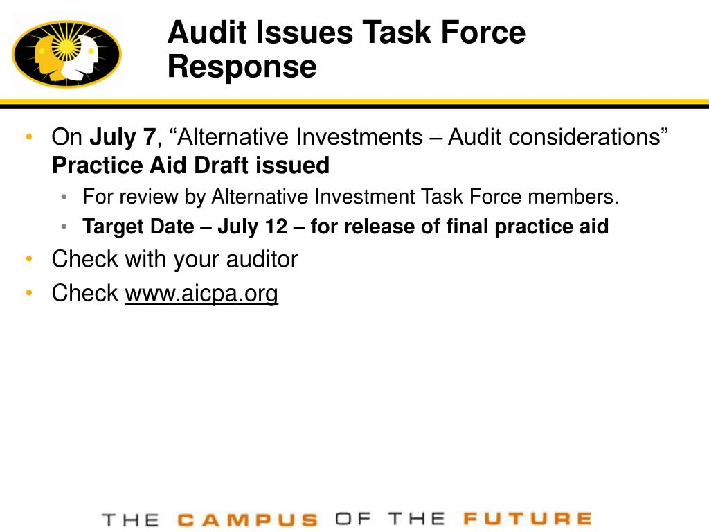 Audit Issues Task Force Response