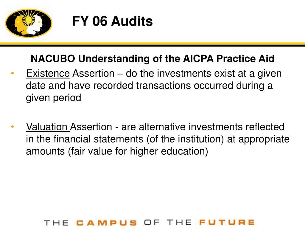 FY 06 Audits