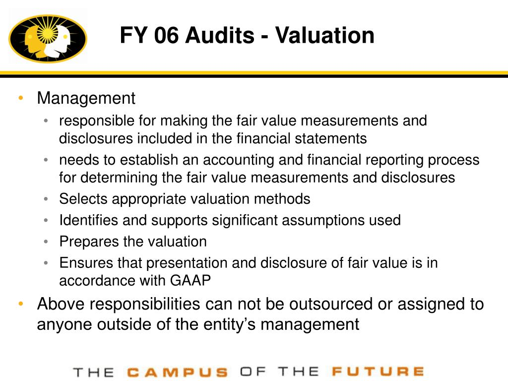 FY 06 Audits - Valuation