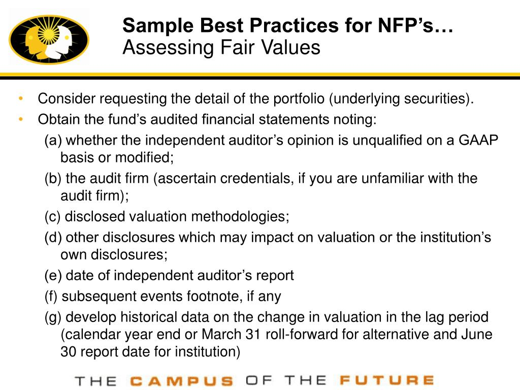 Sample Best Practices for NFP's…