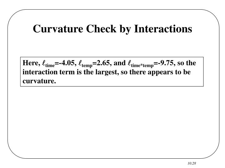 Curvature Check by Interactions