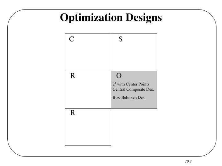 Optimization Designs