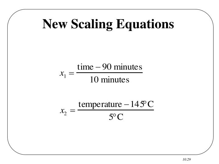 New Scaling Equations