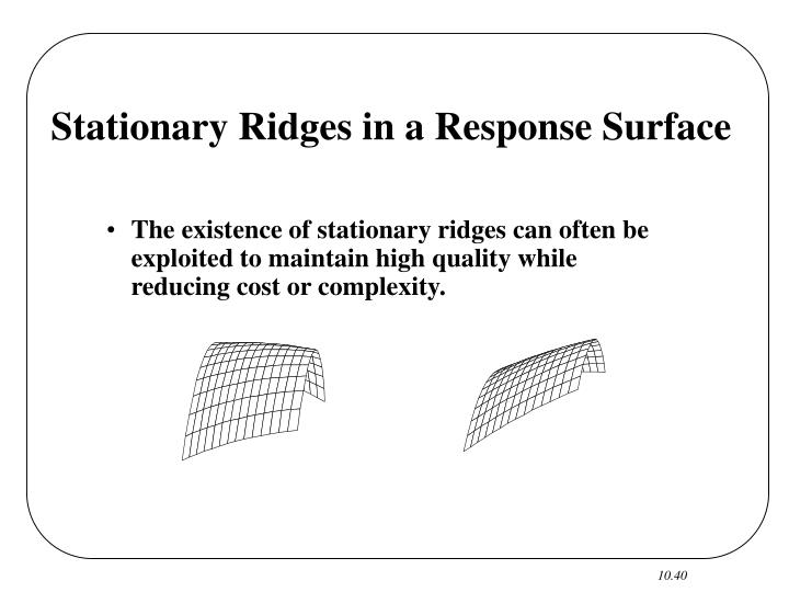 Stationary Ridges in a Response Surface