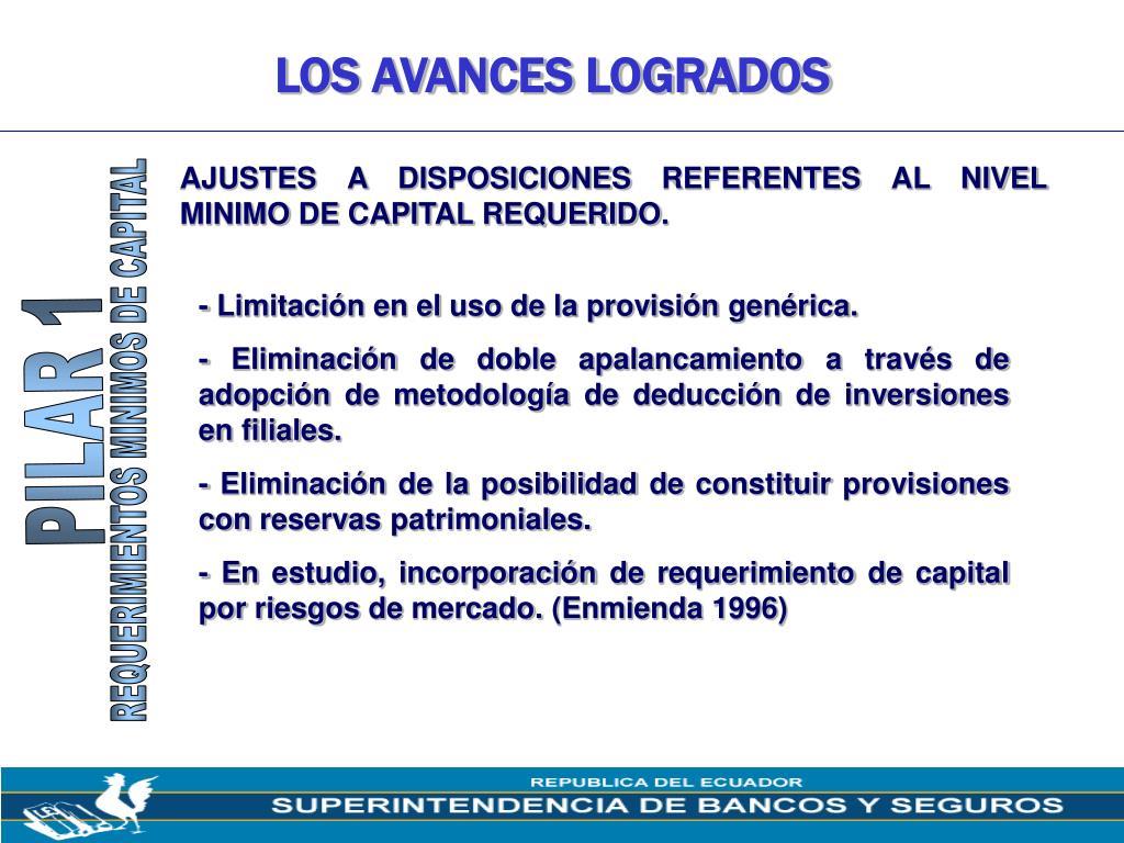LOS AVANCES LOGRADOS