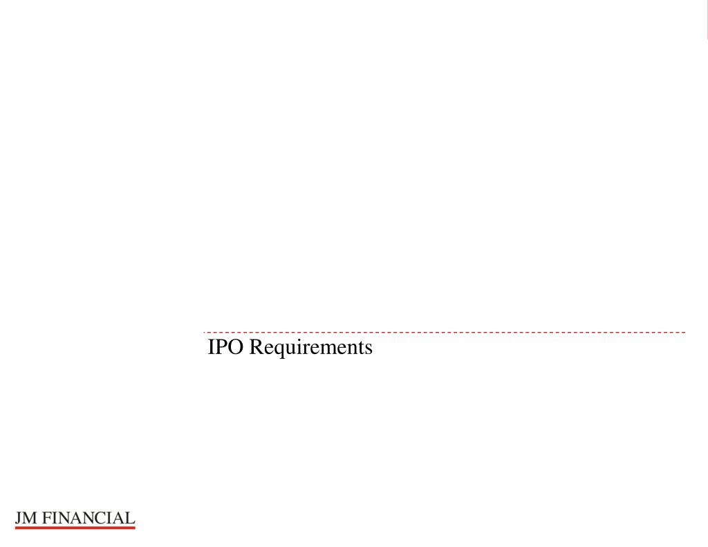 IPO Requirements