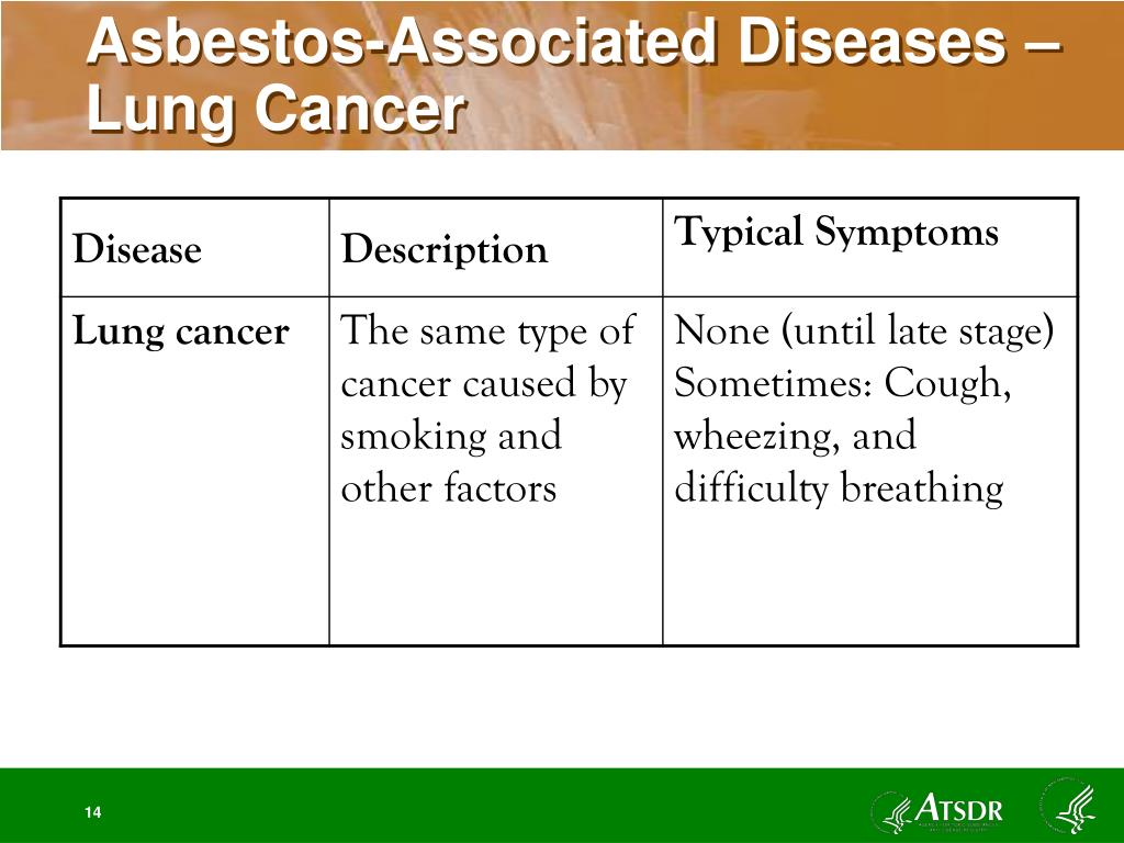 Asbestos-Associated Diseases – Lung Cancer