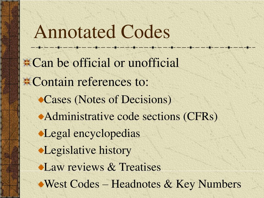 Annotated Codes