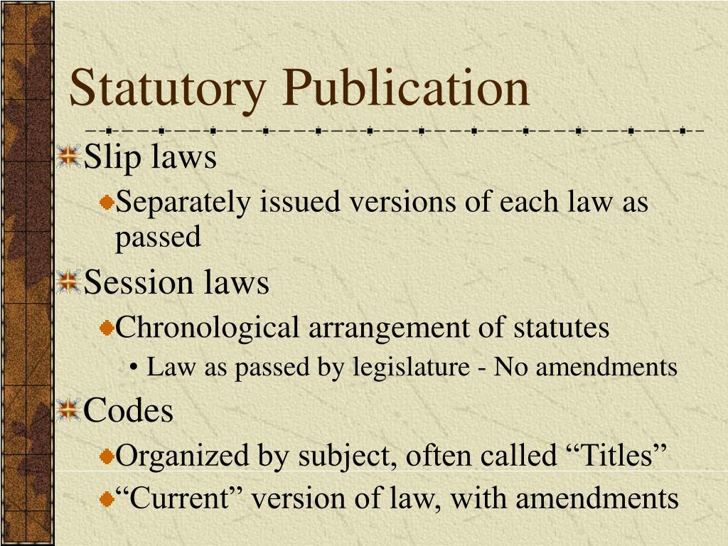 Statutory Publication
