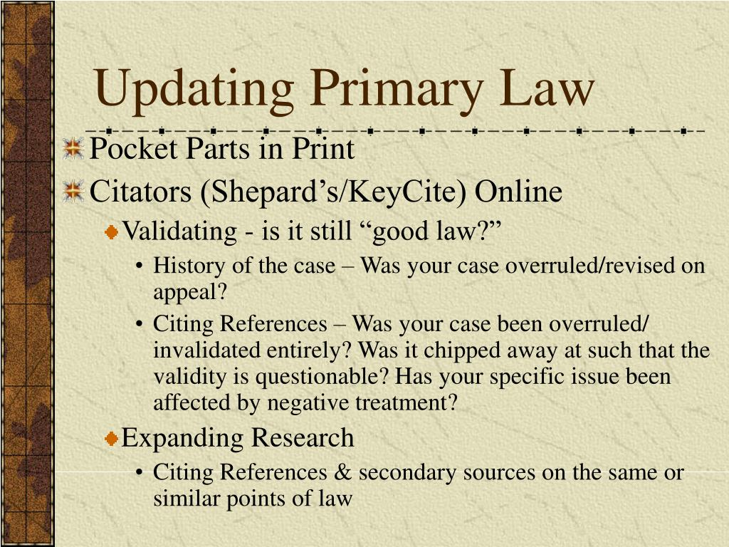 Updating Primary Law