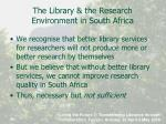 the library the research environment in south africa3