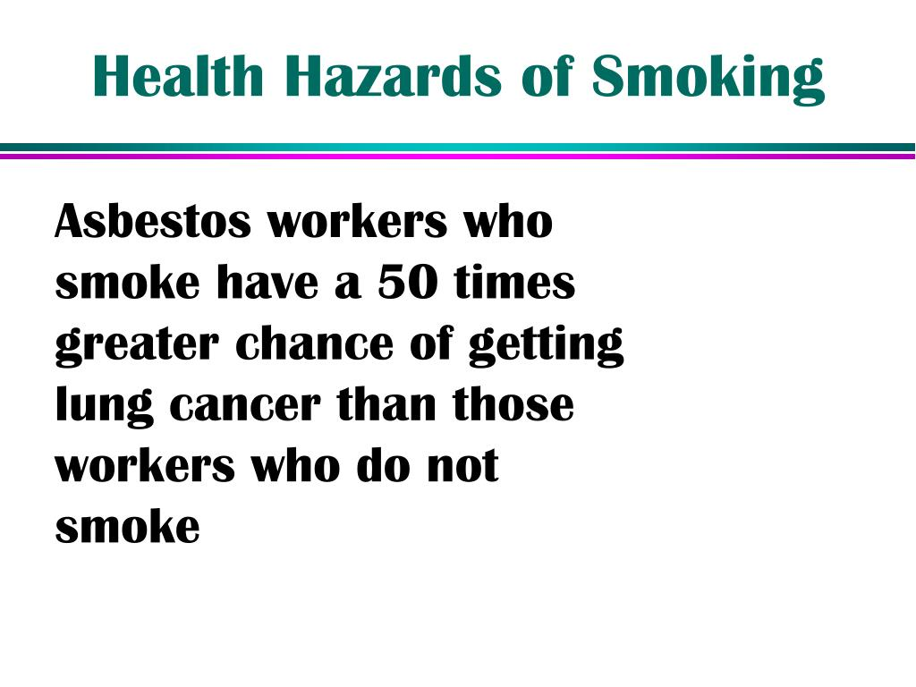 Health Hazards of Smoking