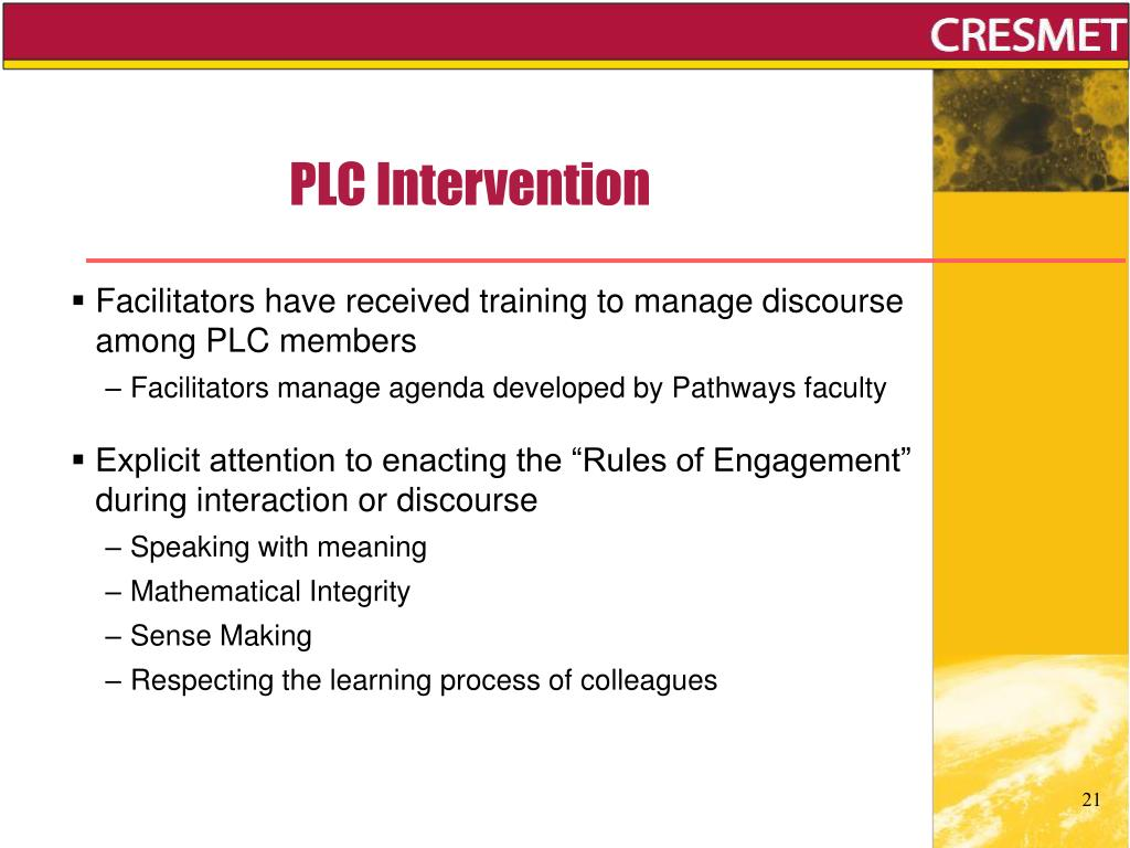 PLC Intervention