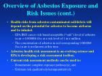 overview of asbestos exposure and risk issues cont