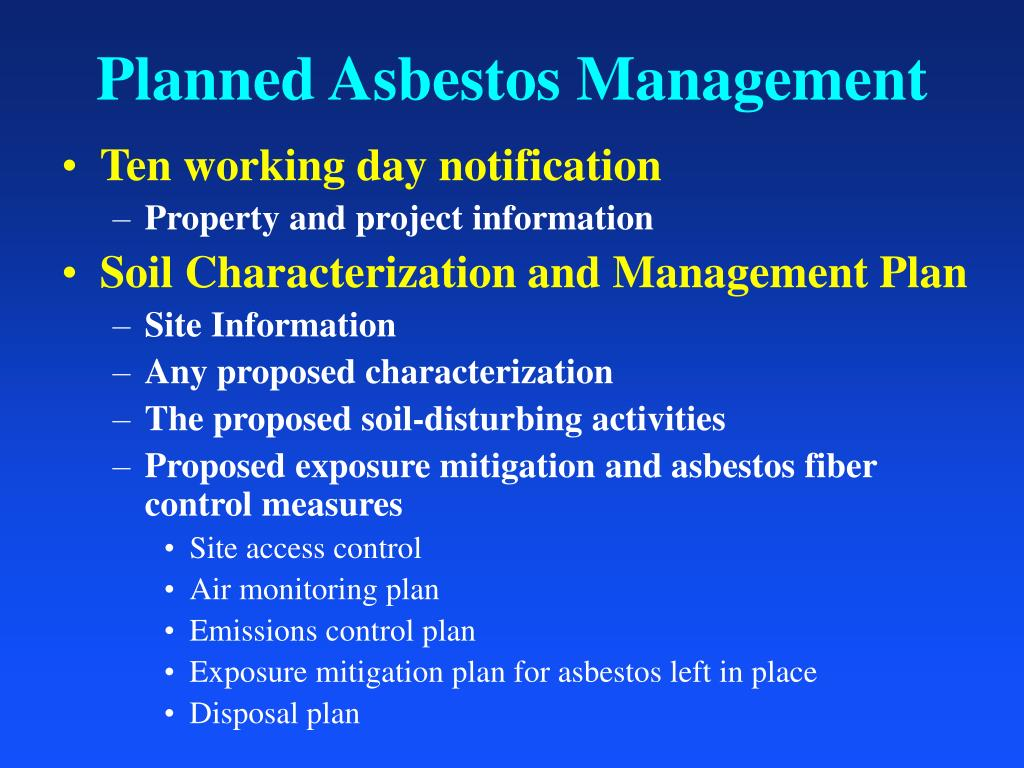 Planned Asbestos Management