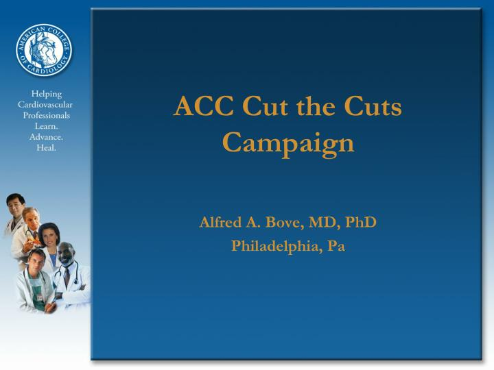 Acc cut the cuts campaign
