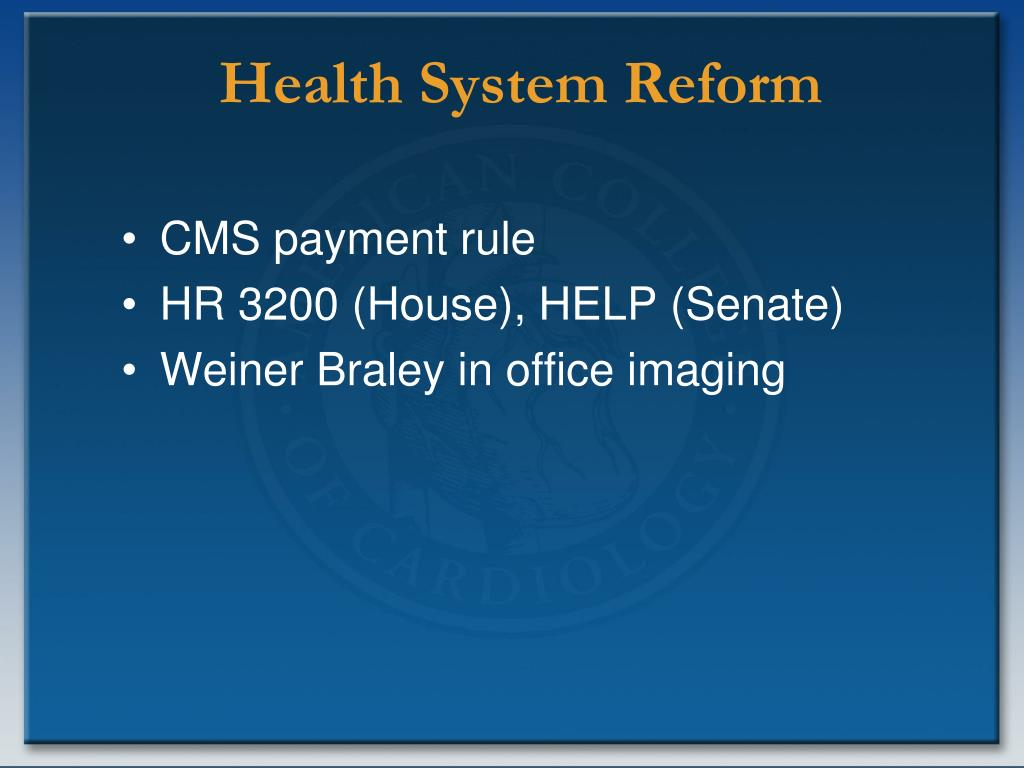 Health System Reform