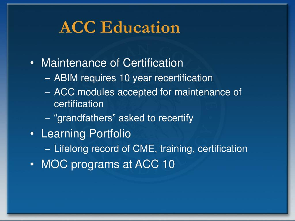 ACC Education