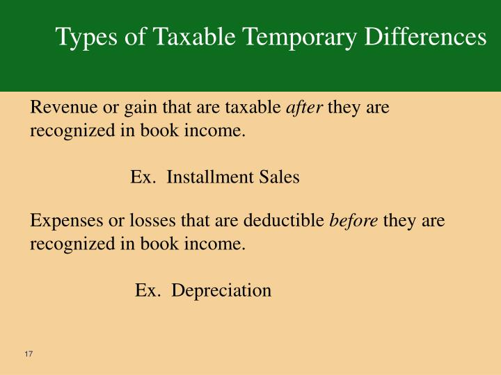 Book tax differences stock options