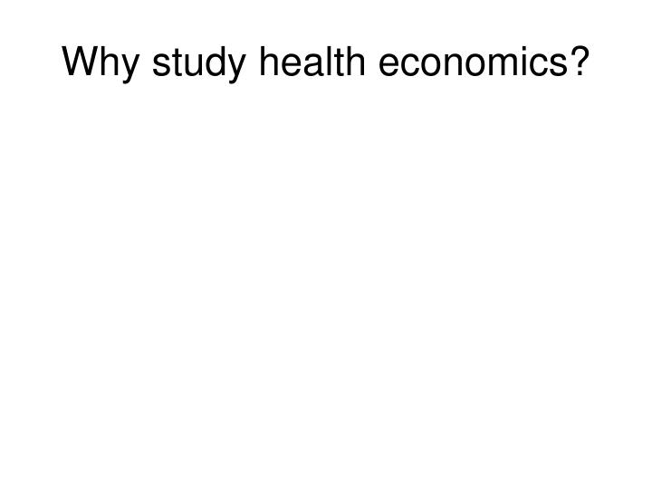 Why study health economics
