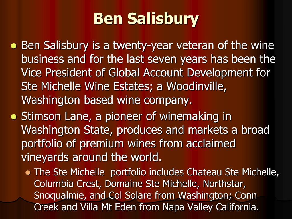 Ben Salisbury