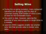selling wine