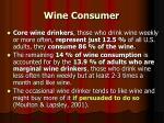 wine consumer