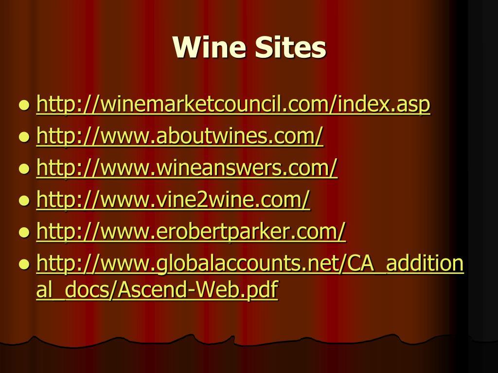 Wine Sites