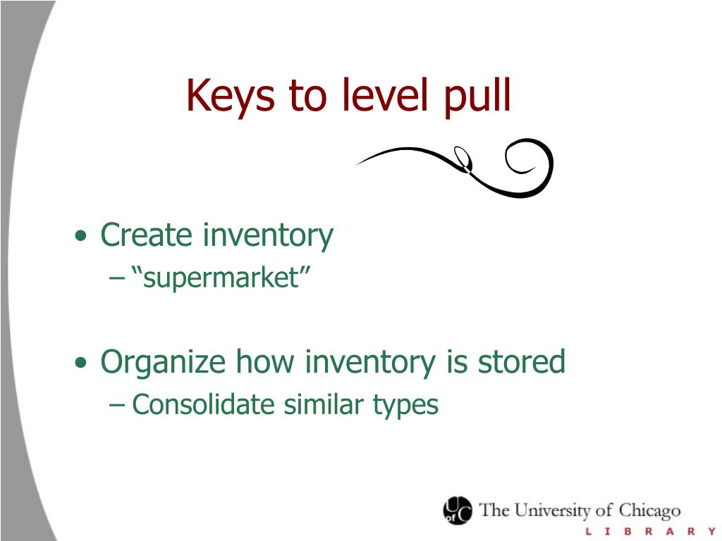 Keys to level pull