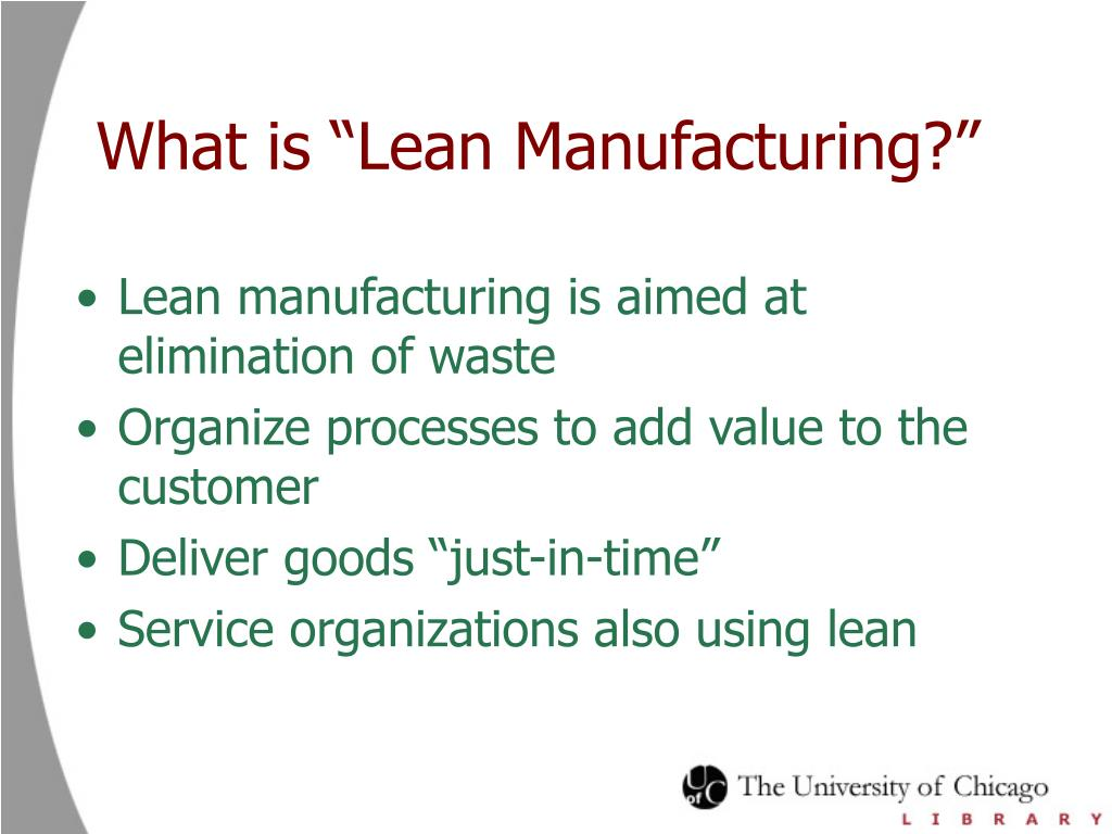 "What is ""Lean Manufacturing?"""