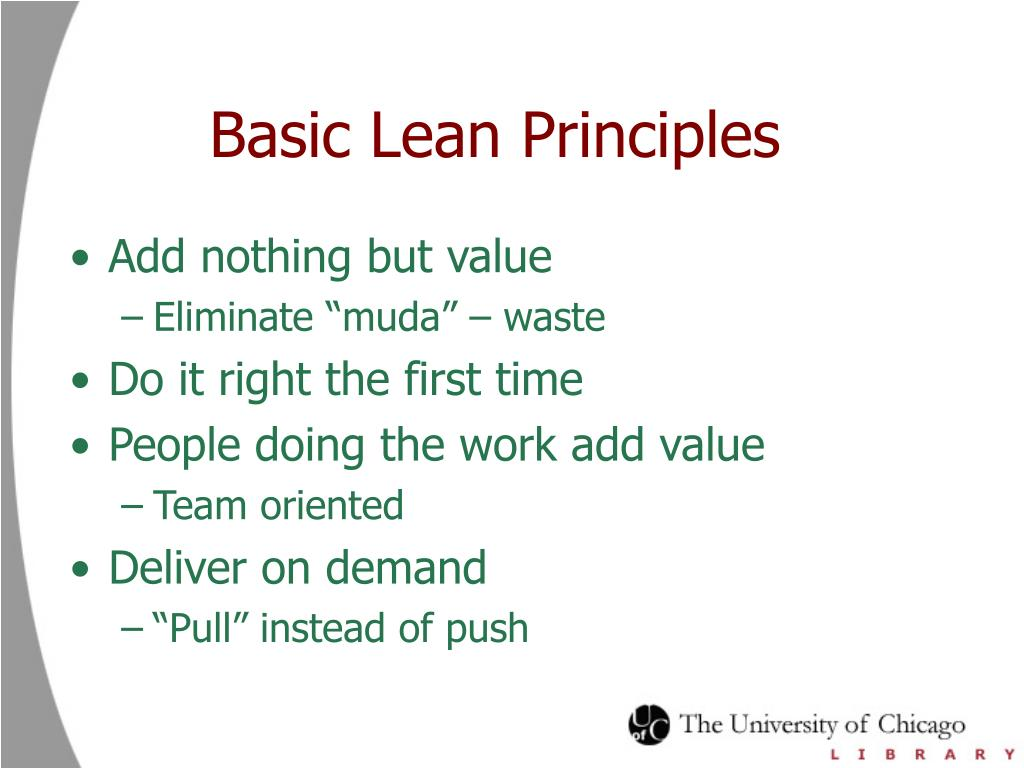 Basic Lean Principles