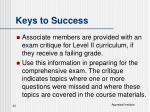 keys to success32
