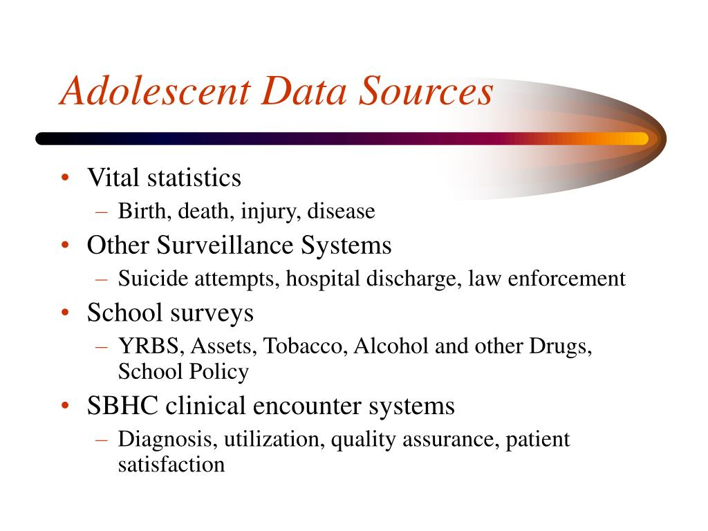 Adolescent Data Sources
