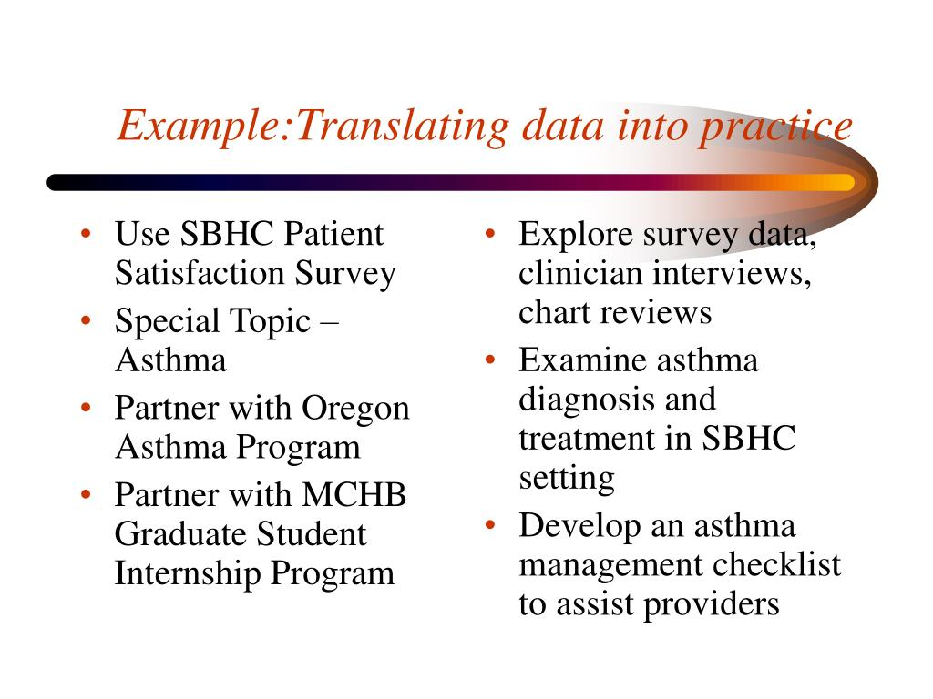 Use SBHC Patient Satisfaction Survey