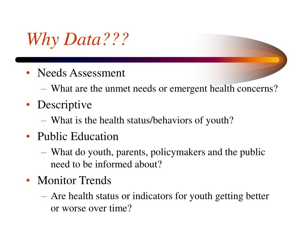 Why Data???