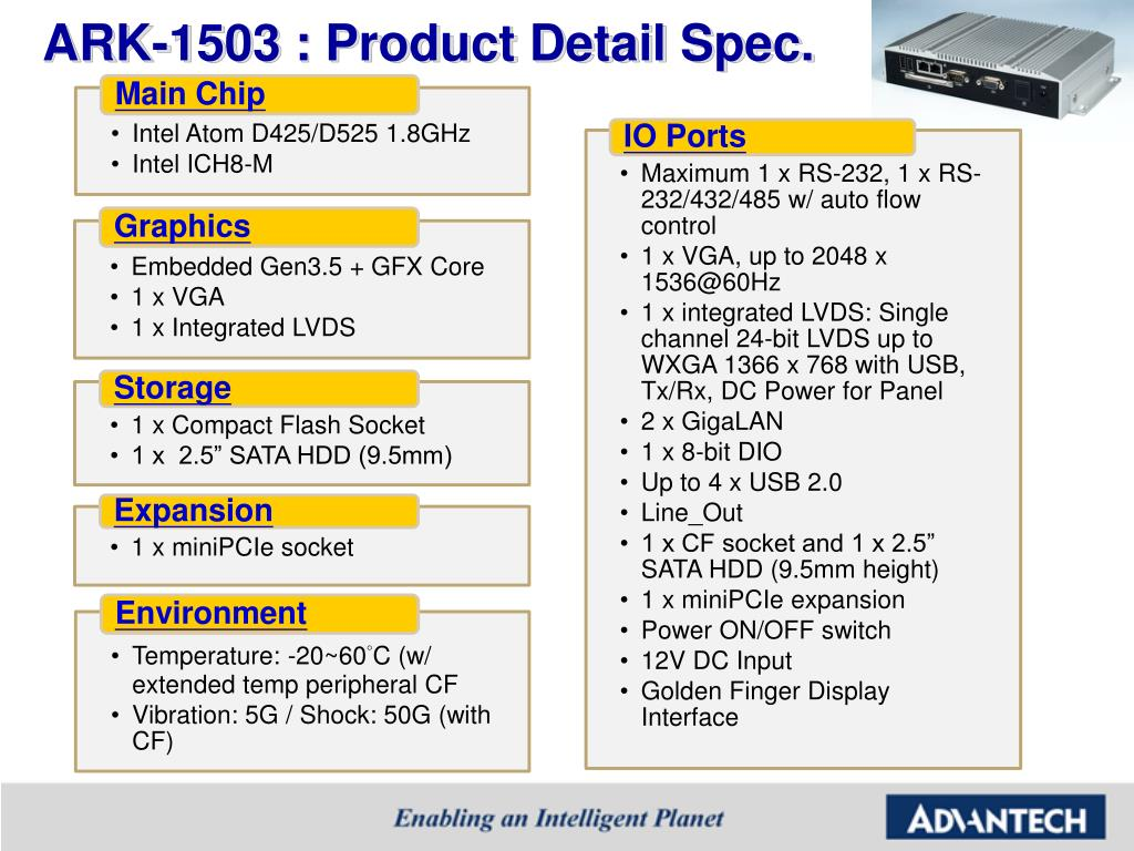 ARK-1503 : Product Detail Spec.