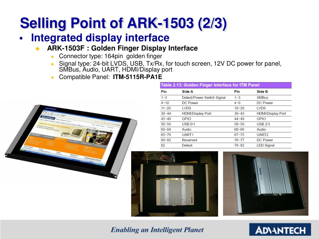 Selling Point of ARK-1503 (2/3)