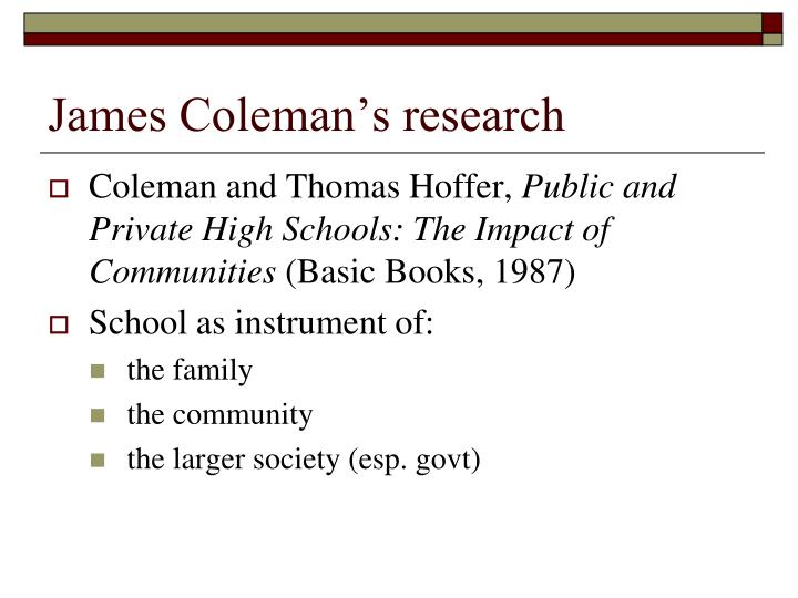 James Coleman's research