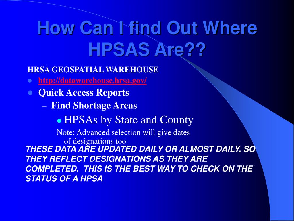 How Can I find Out Where HPSAS Are??