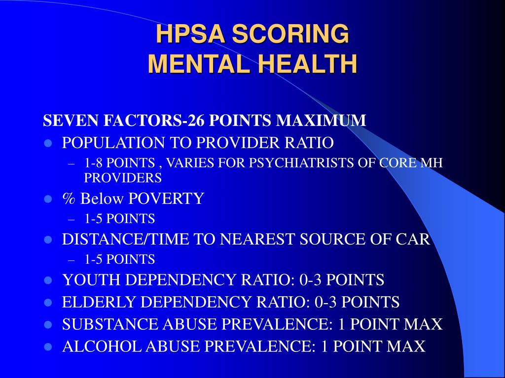 HPSA SCORING