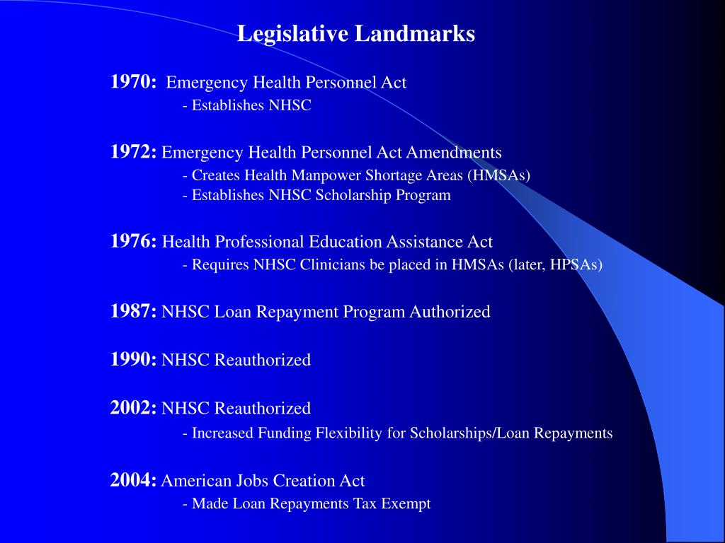 Legislative Landmarks