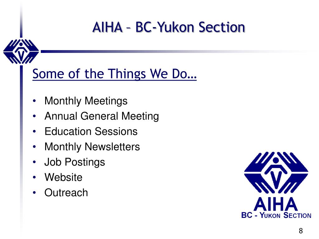 AIHA – BC-Yukon Section