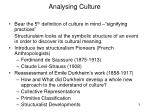 analysing culture